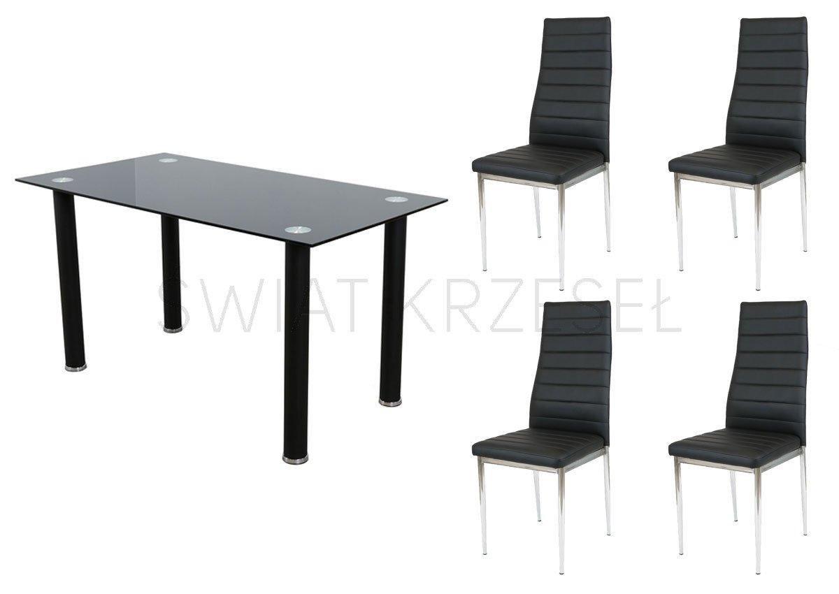 Sk design st10 black table gloss 140 x 75 black legs 4 for Table 140 x 80 design