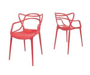 Sk design kr018 weisser stuhl mit metallgestell weiss for Stuhl design rot