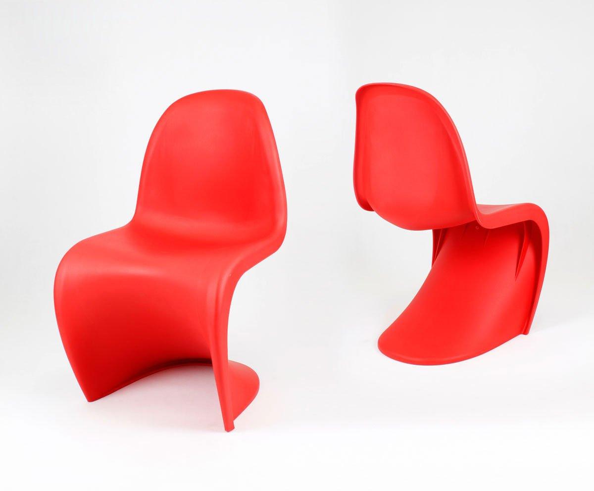 Sk design kr017 rot stuhl matt rot tworzywo sztuczne for Design stuhl rot