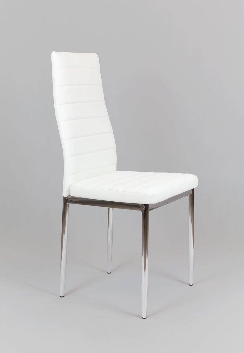 sk design ks001 weiss kunsleder stuhl mit chromgestell bia y chrom angebot st hle farbe. Black Bedroom Furniture Sets. Home Design Ideas