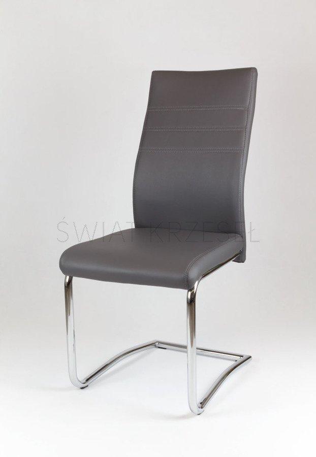 sk design ks013 grau kunsleder stuhl mit chromgestell grau angebot krzes a wiat krzese. Black Bedroom Furniture Sets. Home Design Ideas