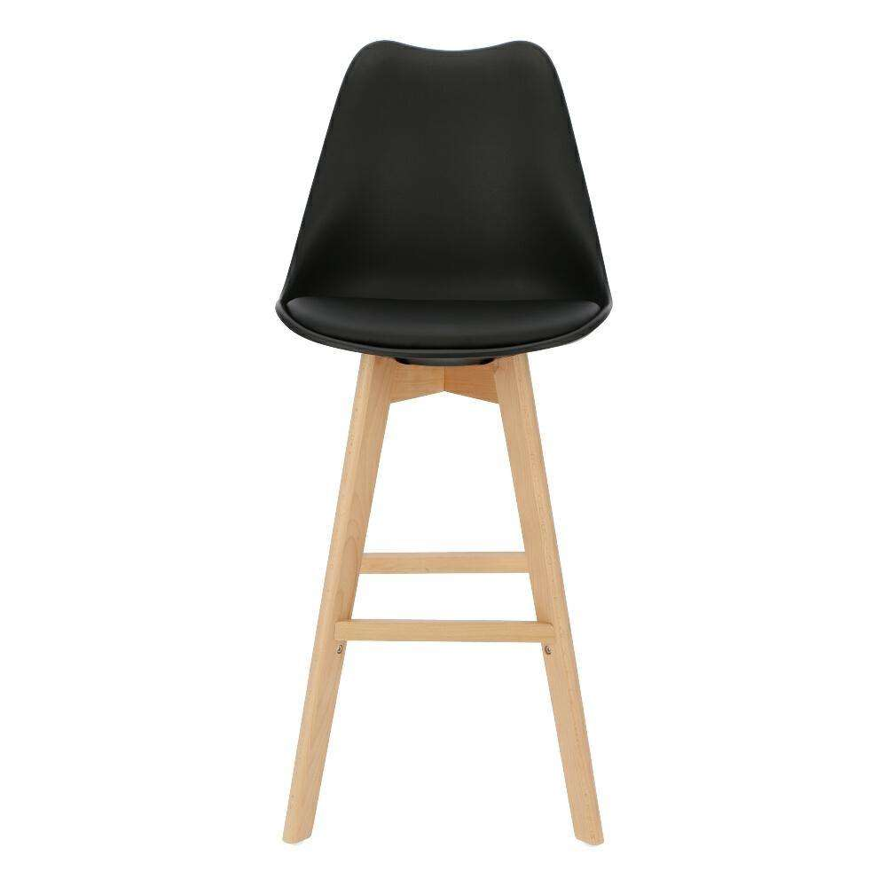 Bar Stool Norden Wood High Pp Black