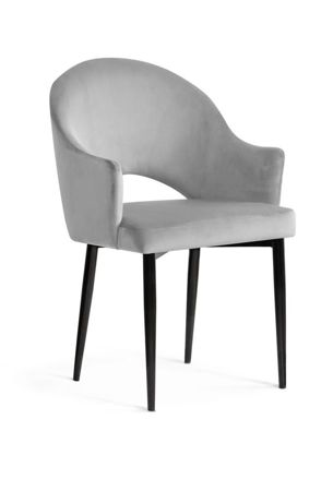 GODA chair silver / black leg / BL03