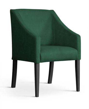 Armchair CAPRI green / black leg / BL78