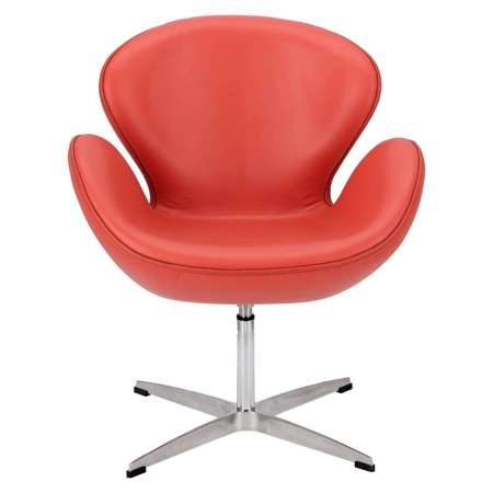 Armchair red leather 65