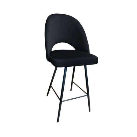 Black upholstered LUNA hoker material MG-19