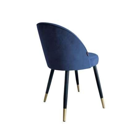 Blue upholstered CENTAUR chair material MG-33 with golden leg