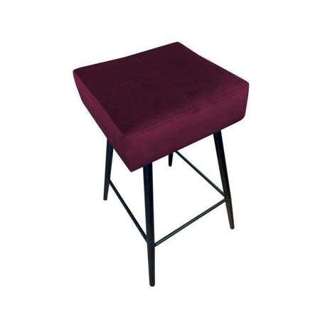 Burgudny upholstered FENIKS hoker material MG-02