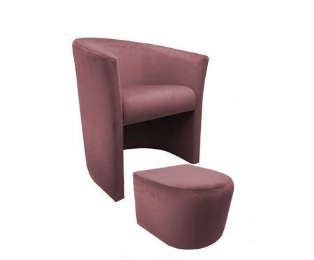 CAMPARI armchair with footrest Magic Velvet 58