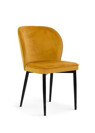 Chair AINE honey / black leg / BL68