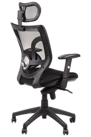 Fotel biurowo gabinetowy krzesło obrotowe Borneo - czarny