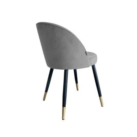 Gray upholstered CENTAUR chair material MG-17 with golden leg