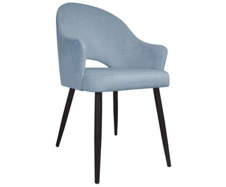 Gray upholstered chair armchair DIUNA material BL-06