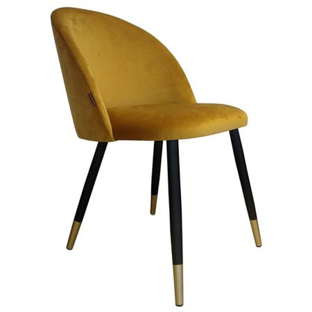KALIPSO chair yellow mustard material MG-15 with golden leg