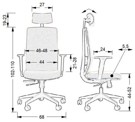 Krzesło Fotel obrotowy - IKARIA GRAFIT