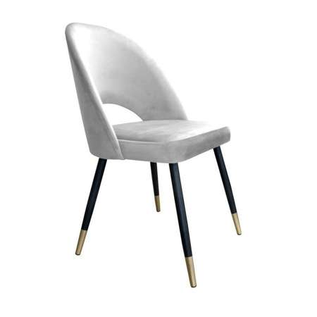 Light gray upholstered LUNA chair material MG-39 with golden leg