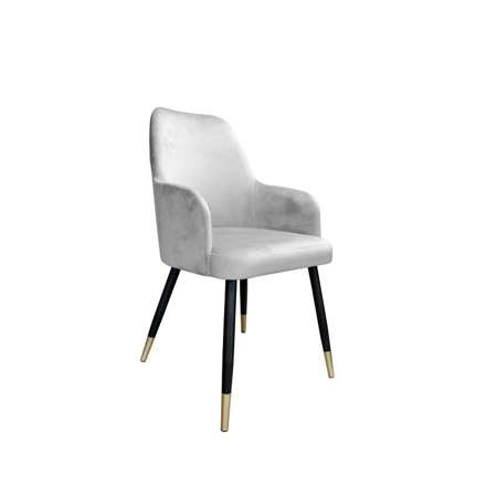 Light gray upholstered PEGAZ chair material MG-39 with golden leg