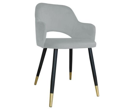 Light gray upholstered STAR chair material MG-39 with golden leg