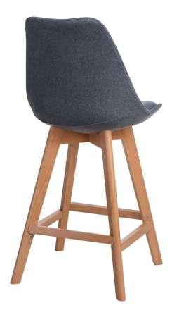 Norden wood low Tap bar stool gray