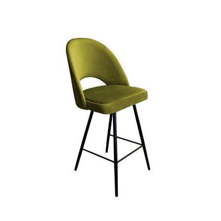 Olive upholstered LUNA hoker material BL-75