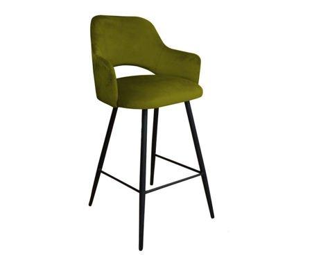 Olive upholstered STAR hoker material BL-75