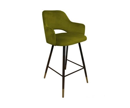 Olive upholstered STAR hoker material BL-75 with golden leg