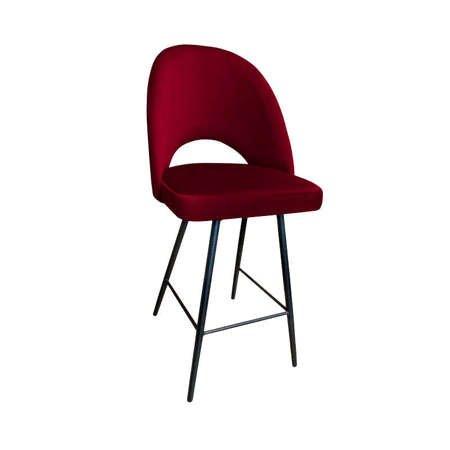 Red upholstered LUNA hoker material MG-31