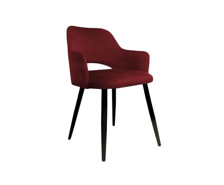 Red upholstered STAR chair material MG-31