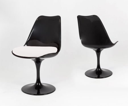 SK Design KR029 Black Swivel Chair + Cushion
