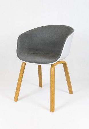 SK DESIGN KR049 LIGHTGREY CHAIR + CUSHION SEAT