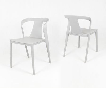 SK DESIGN KR052  LIGHT GREY POLYPROPYLENE CHAIR
