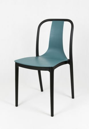 SK DESIGN KR053 NAVY GREEN POLYPROPYLENE CHAIR