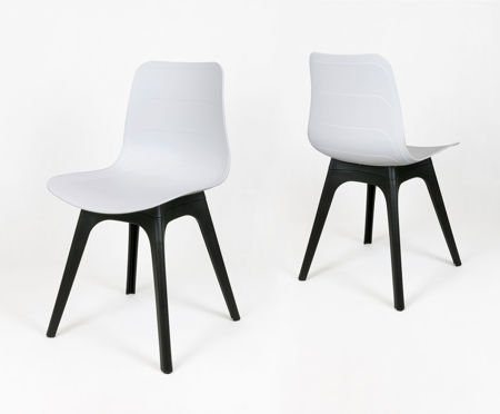 SK DESIGN KR062A WHITE POLYPROPYLENE CHAIR