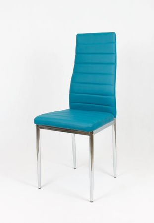 SK Design KS001 Dark Turquoise Synyhetic Leather Chair with Chrome Rack