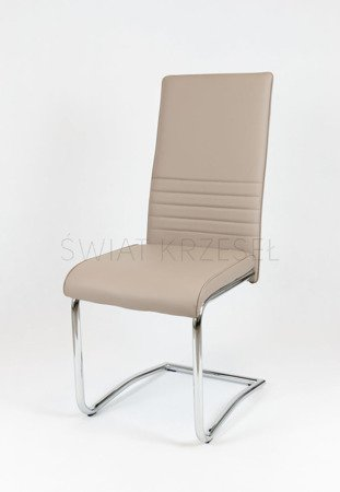 OUTLET SK Design KS022 Beige Synthetic Lether Chair with Chrome Rack