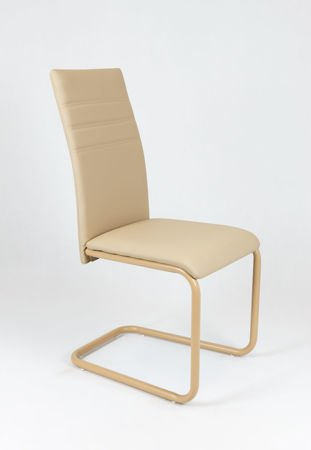 SK DESIGN KS024 BEIGE SYNTHETIC LETHER CHAIR