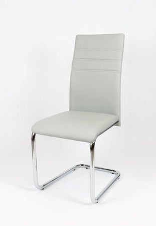 SK DESIGN KS024 LIGHT GREY SYNTHETIC LETHER CHAIR