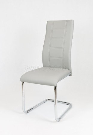 SK DESIGN KS029 LIGHT GREY Synthetic lether chair with chrome rack