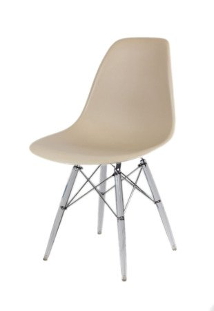 SK Design KR012 Beige Chair Clear