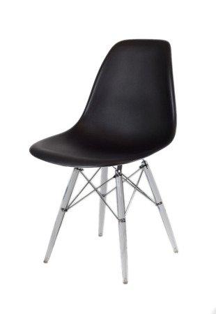 SK Design KR012 Black Chair Clear