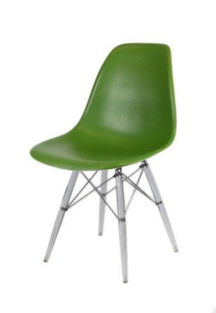 SK Design KR012 Dark Green Chair Clear