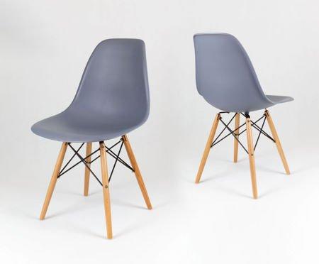 SK Design KR012 Dark Grey Chair Beech