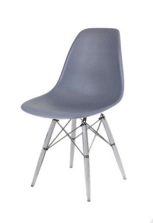 SK Design KR012 Dark Grey Chair Clear