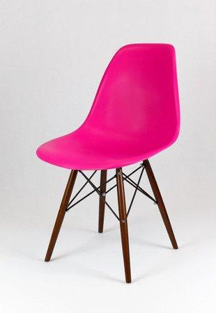 SK Design KR012 Dark Pink Chair Wenge legs