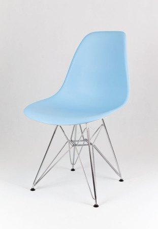 SK Design KR012 Light Blue Chair Chrome