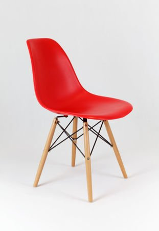 SK Design KR012 Red Chair Beech