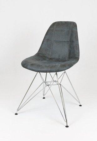 SK Design KR012 Upholstered Chair Eko, Chrome legs