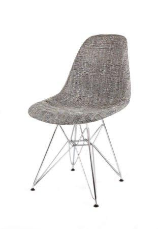 SK Design KR012 Upholstered Chair Lawa05, Chrome legs