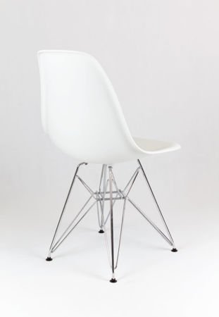 SK Design KR012 White Chair Chrome