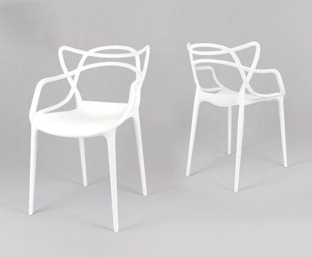 SK Design KR013 White Chair